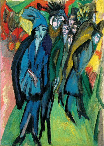 Ernst Ludwig Kirchner, Street Scene Berlin, Private Collection
