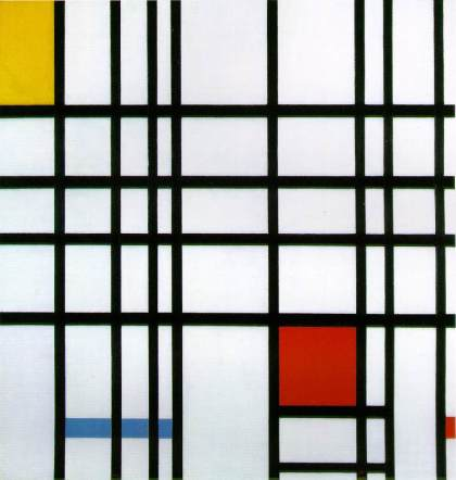 Composition in Yellow, Blue, and Red, Piet Mondrian