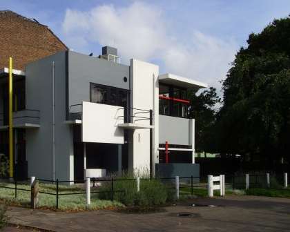 External picture of the Rietveld-Schröder House, Gerrit Rietveld, Utrecht
