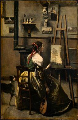 Jean-Baptiste-Camille Corot, The Artist's Studio, c. 1868