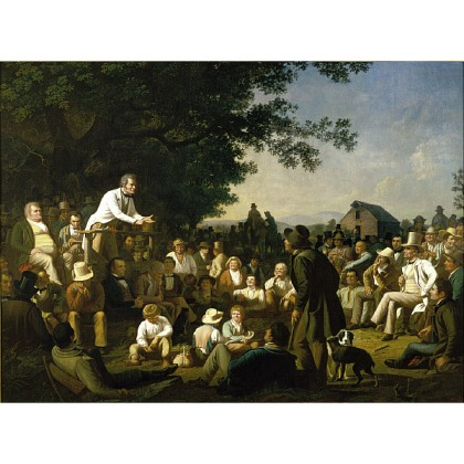 George Caleb Bingham, Stump Speaking, 1854-5, St. Louis Art Museum