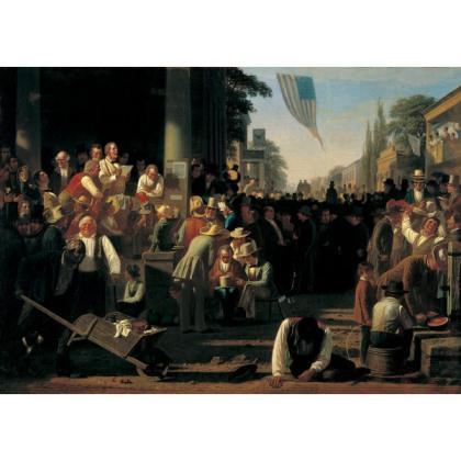George Caleb Bingham, The Verdict of the People, 1854-5, St. Louis Art Museum