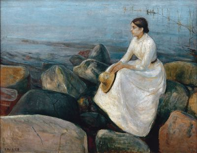 Edvard Munch, Sister Inger on the Beach, 1889, Bergen Art Museum