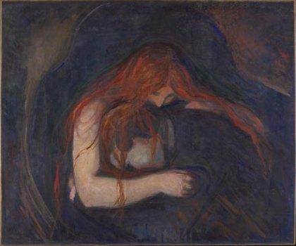 Edvard Munch, Vampire, 1893-4, Munch Museum Oslo